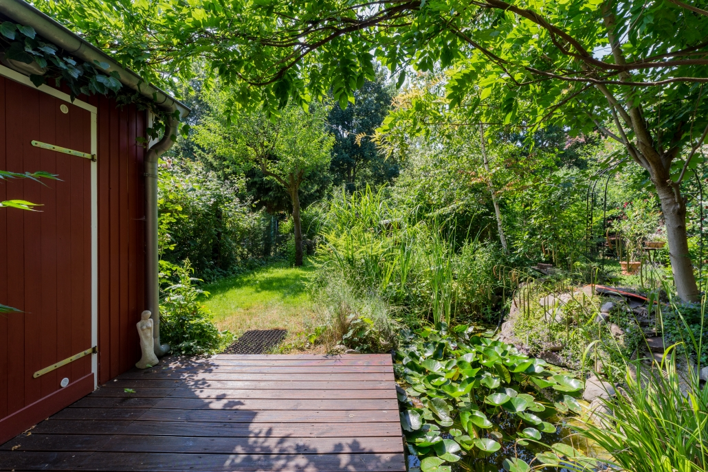 Garten mit Steg